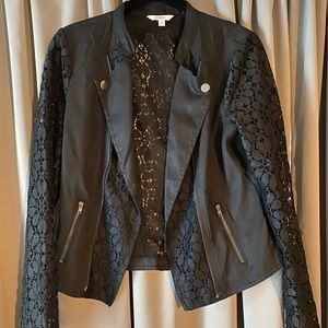 Dressy Blazer with Lace Sleeves and Back